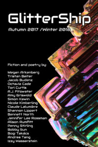GlitterShip Autumn 2017 / Winter 2018 issue cover.